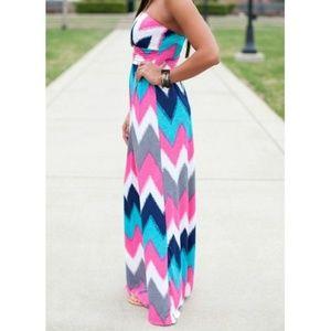 Stylish Strapless Sleeveless Striped Women's Dress